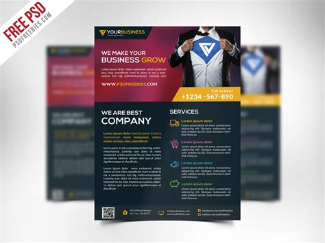 business flyers templates free free corporate business flyer template psd psdfreebies