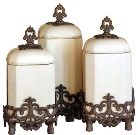 dekorative küchen kanister sets the gg collection provencal canisters set of 3
