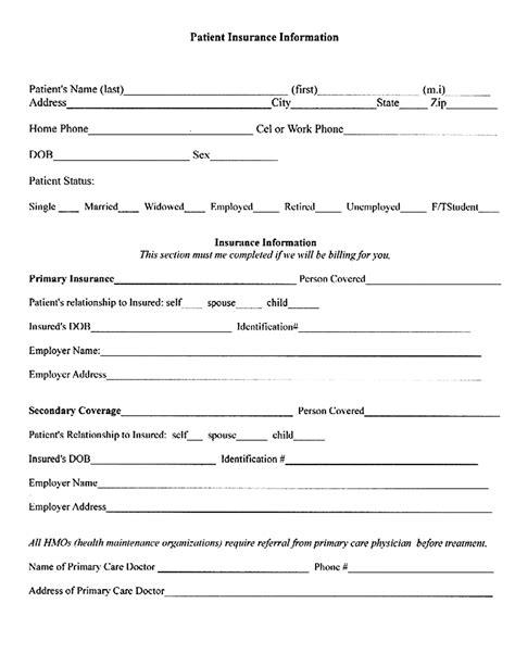 Patient Verification Letter Pin Insurance Verification Form On