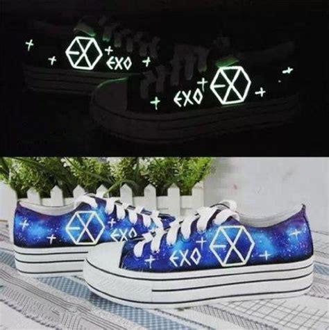 Hoodie Exo Boy Band Korea 7 Cloth exo kpop sbs fluorescent shoes canvas board shoes custom