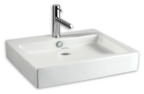 Modern Above Counter Bathroom Sinks Studio Above Counter Rectangular Sink Modern Bathroom