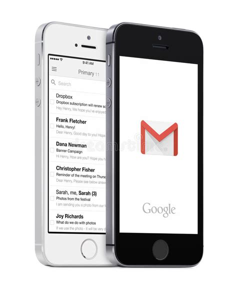 google gmail app  gmail inbox  white  black apple