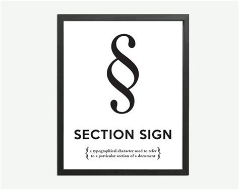 section sign section sign black white art print punctuation