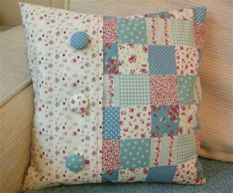 How To Make A Patchwork Cushion - 25 best ideas about patchwork cushion on