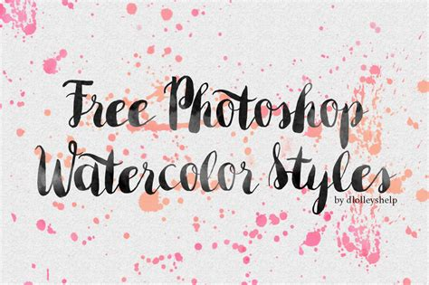 watercolor typography photoshop tutorial dlolleys help free photoshop watercolor styles