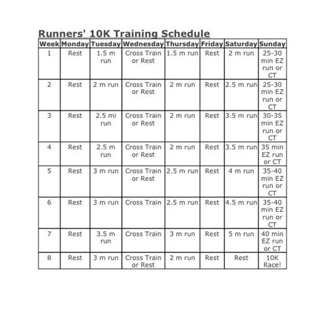 running room schedule best 25 10k plan ideas on running 10km running plan and 10k runs