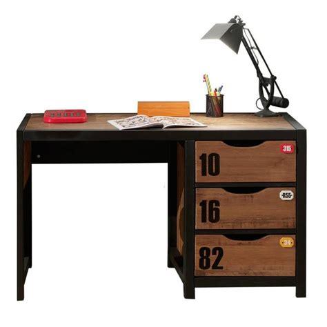 bureau enfant noir bureau enfant quot alex quot marron noir