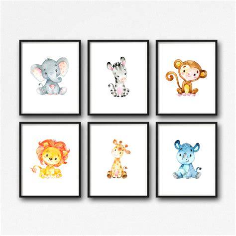 kinderzimmer bilder tiere animals nursery printable jungle animals nursery
