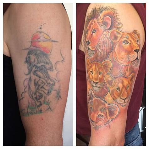 lion tattoo ideas cover up design idea for 33 cover ups designs that are way better than the