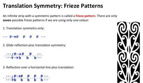 frieze pattern definition geometry frieze patterns solve my maths