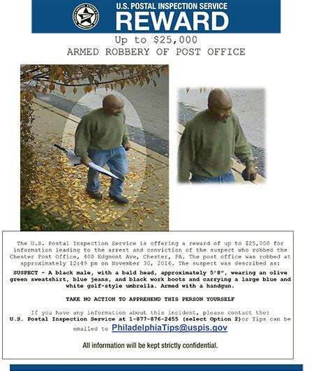 Glenolden Post Office by Wanted Attempted Post Office Robber The Spirit