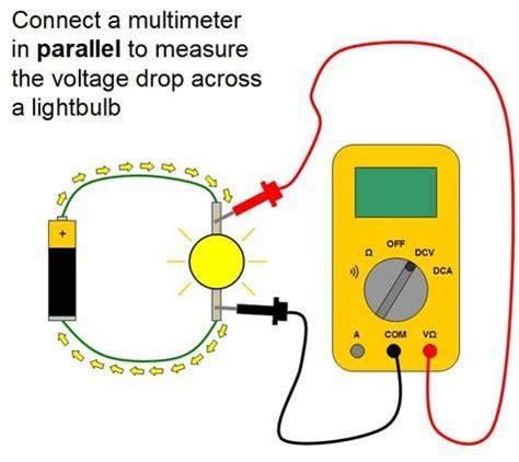 measure voltage across resistor multimeter multimeter lesson plan voltage measurement in parallel lees stuff
