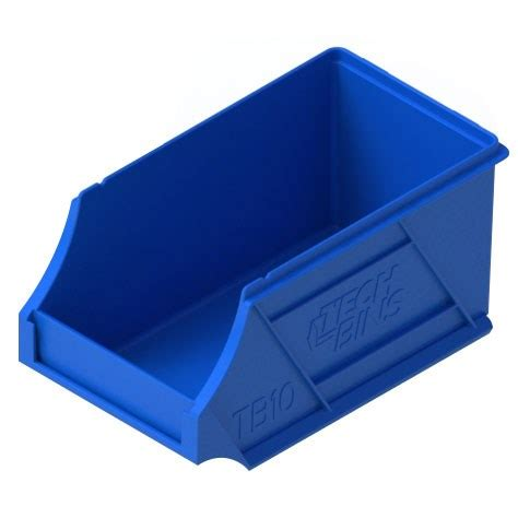 tech bins tray tub  blue