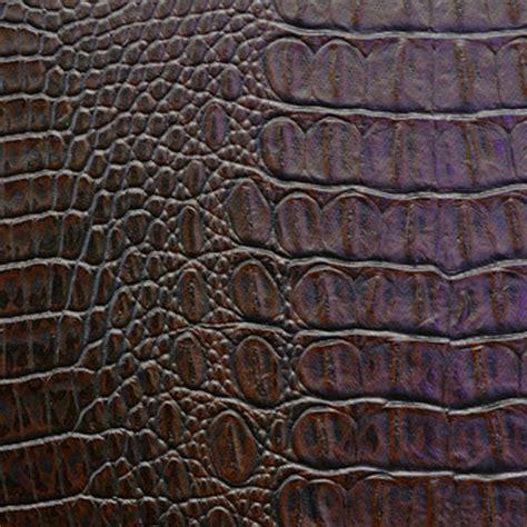 Crocodile Upholstery Fabric by 2 Yd Crock Mocha Brown Faux Leather Crocodile