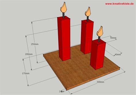 kerzen wandhalter holz naturholz kerze mit flamme basteln