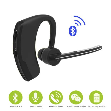 Headset Via Bluetooth wireless bluetooth headset bluetooth earphones with mic call for business car driver