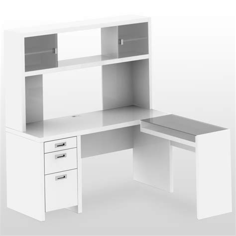 white computer corner desk desk shelves and sketchup all l shaped desk with hutch