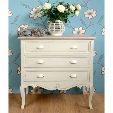 shabby chic chest shabby chic country 3 drawer chest bedroom furniture direct