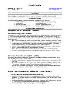 biology qualifications resume sle resume format