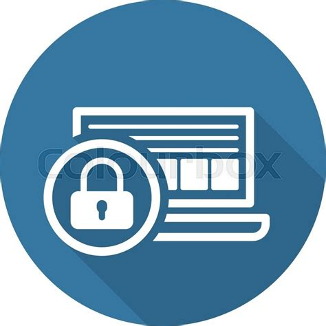 Design Jobs Online Home by Network Security Icon Flat Design Business Concept