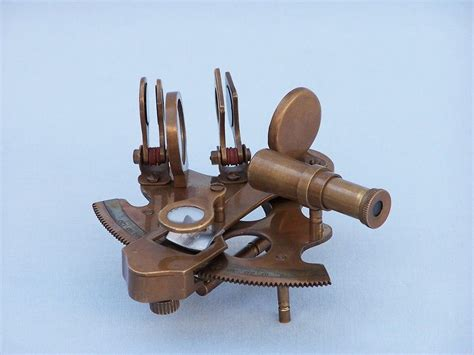 wholesale boutique copper brass collectable handwork get buy scout s antique brass sextant with rosewood box 4 inch