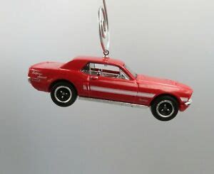 ford mustang gt red car custom christmas ornament
