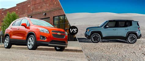 jeep chevrolet 2015 2015 jeep renegade vs 2015 chevy trax