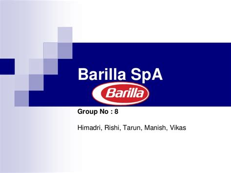 Integral Mba Placement by Barilla Spa Study Solutions Essay Exles Placement