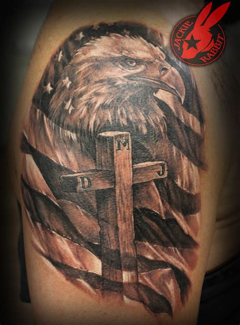 eagle cross tattoo the world s best photos of trashpolka flickr hive mind