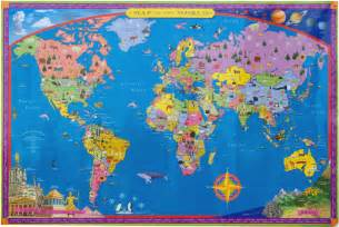 Map Of The World For Kids by Gallery For Gt Maps Of The World For Kids