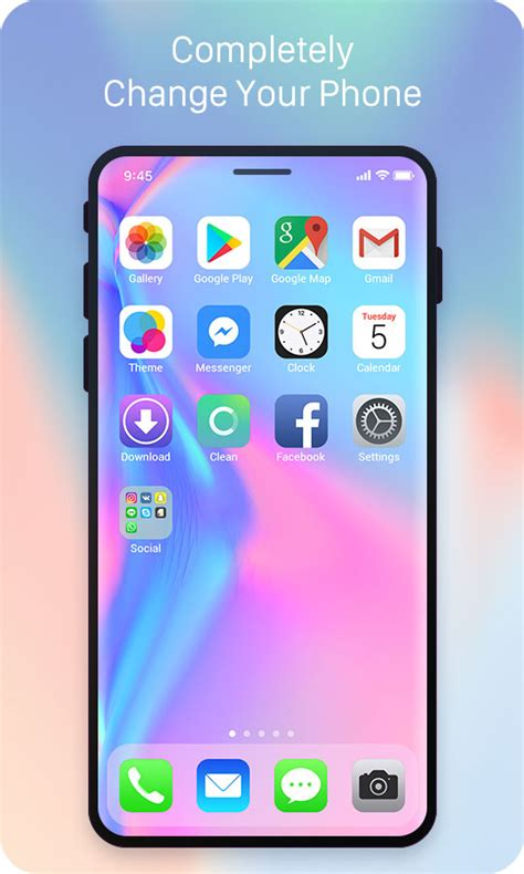 themes iphone 5 apk iphone xlauncher free android theme u launcher 3d