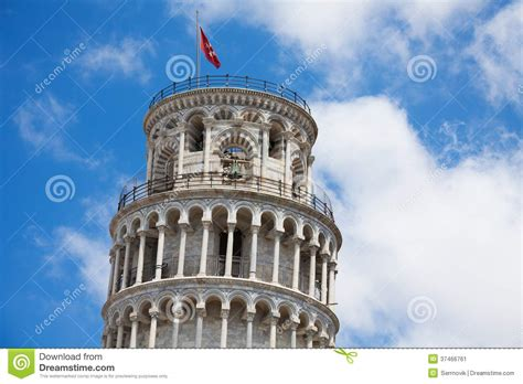 Pisa Top top of the leaning tower stock image image 37466761