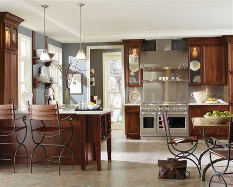 gray paint with cherry cabinets slate blue and cherry wood search style for