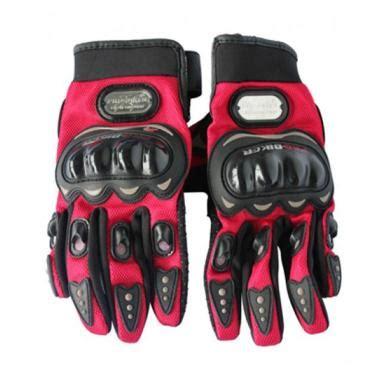 Sarung Tangan Racing jual probiker racing sarung tangan hitam merah