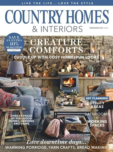 country home and interiors magazine country homes interiors magazine february 2017