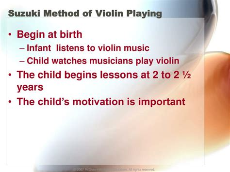What Is The Suzuki Method Ppt Effects Of Early Stimulation And Deprivation