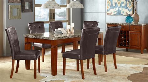 7 pc dining room sets edenton merlot 7 pc rectangle dining room dining room