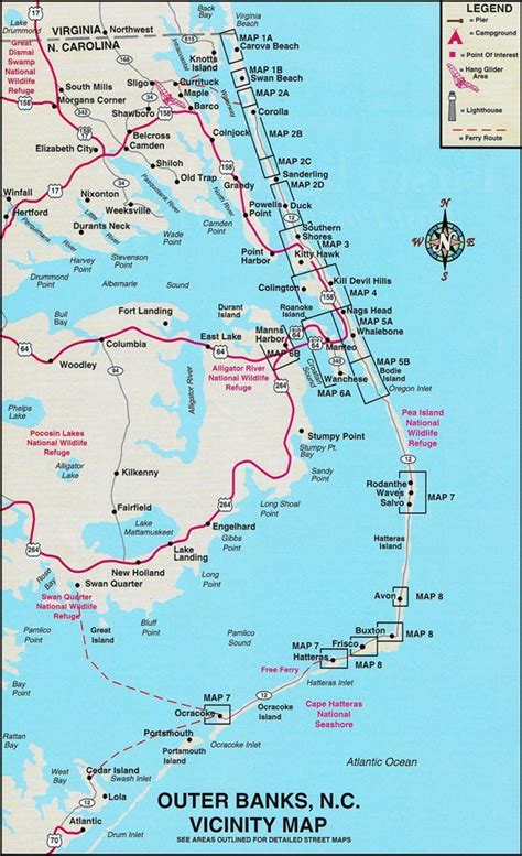 obx map welcome to carolina s outer banks outer banks area