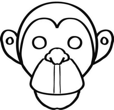 dibujos para colorear de monos careta de mono para colorear dibujos de carnaval para