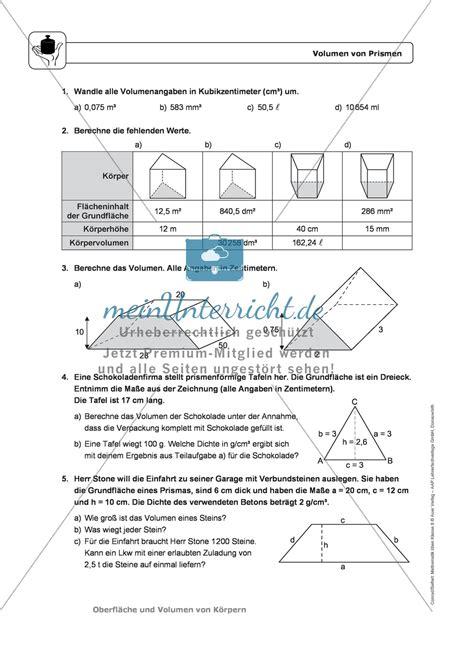 lade prisma k 246 rper oberfl 228 che und volumen prismen infotexte
