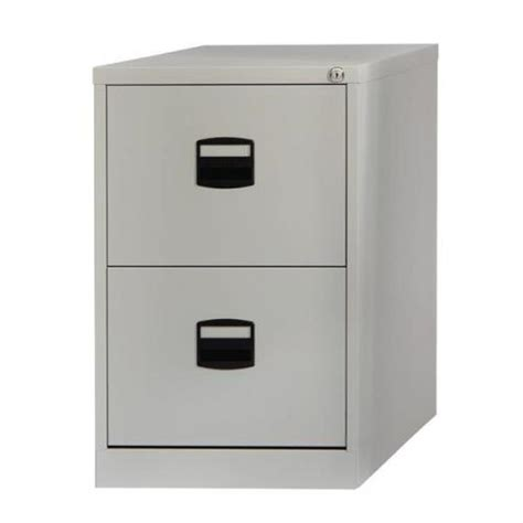 Cheap 2 Drawer File Cabinet by Trexus Filing Cabinet Steel Lockable 2 Drawer Grey
