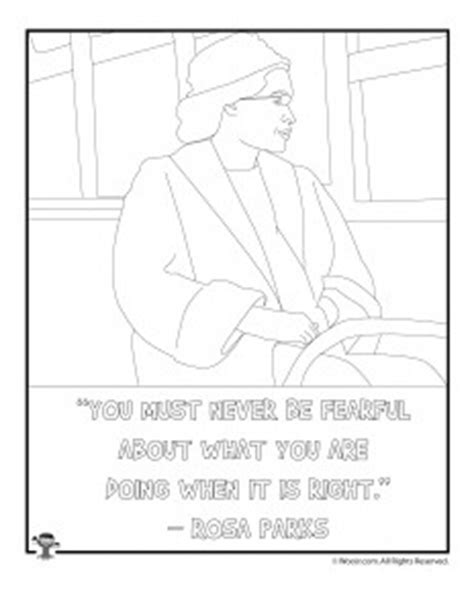 rosa parks coloring page rosa parks day printables woo jr activities