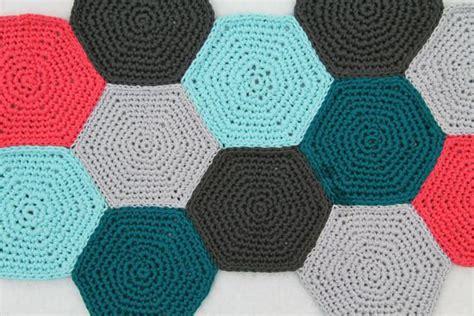 Hexagon Crochet Rug Pattern by Hexagon Crochet Touch 233