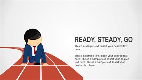 ready templates for powerpoint ready steady go business analogy slides for powerpoint