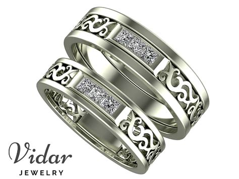 unique matching wedding bands vidar jewelry