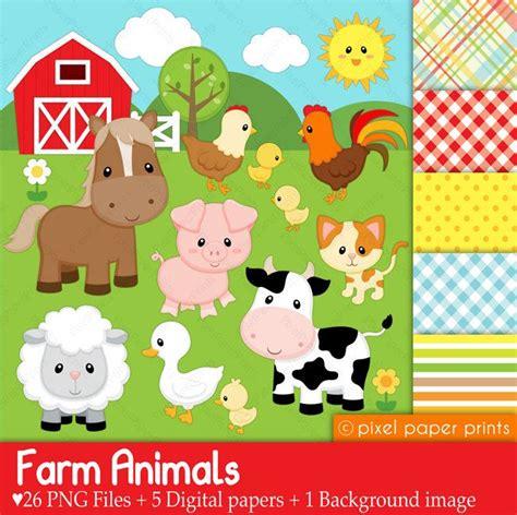 farm animal clipart digital clipart farm animals digital paper and clip
