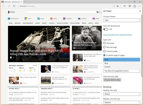 home pages to choose from on windows 10 edge has
