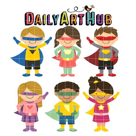 boat without mask clipart superhero kids clip art set daily art hub free clip