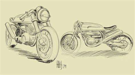 sketchbook speed drawing cafe racer 2 live design bike sketching speed paint