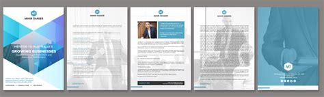 ebook word format elegant modern business consultant word template design